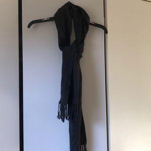 Hand Made Unisex Merino wool charcoal grey scarf